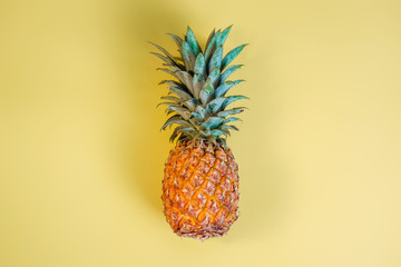 Pineapple on a yellow background