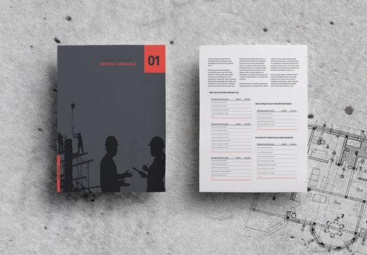Layout report annuale minimalista
