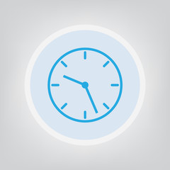 clock icon- vector illustration