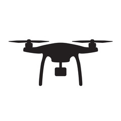 aerial drone with camera icon- vector illustration
