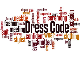 Dress code word cloud concept 3