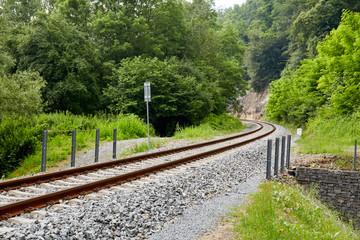 Railway track in Michalovice village