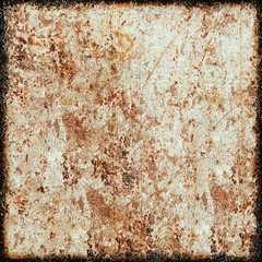 Rusty grunge background. The texture of the old surface. Abstract pattern of cracks, scuffs, dust