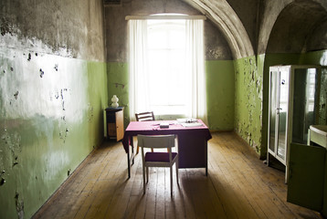 Old poor room interior