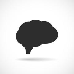 Brain figure vector icon
