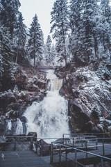 Wasserfälle in Triberg im Winter