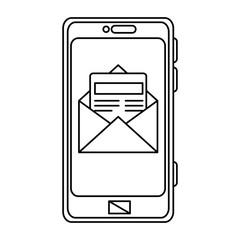 smartphone device with envelope mail
