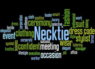 Necktie word cloud concept 2