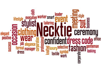 Necktie word cloud concept 3