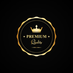 Vector gold premium quality badge