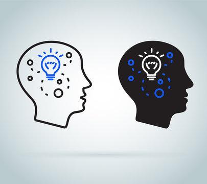 Decision making or emotional intelligence. Positive mindset psychology and neurology, social behavior skills science