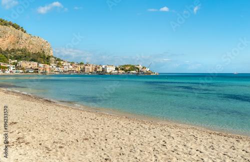View Of Mondello Beach Is A Small Seaside Resort Near Center City Palermo