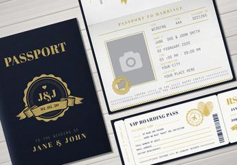 Passport Wedding Invitation Set 1