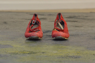 Worn Red Shoes