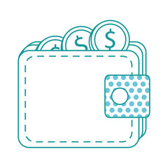 wallet with coin money isolated icon vector illustration design