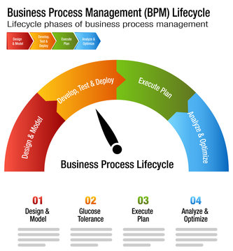Business Process Management Lifecycle BPM Chart