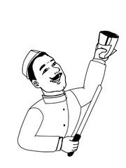 kebab doner cartoon illustration drawing and man coloring
