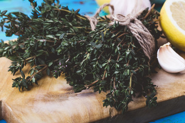 Ingredients of traditional Mediterranean cuisine