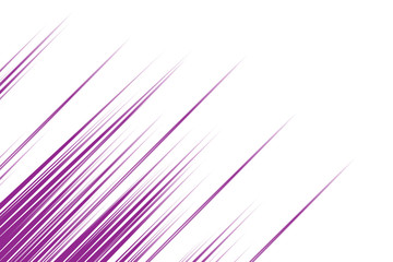 Abstract violet diagonal lines on white background