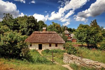 Old traditional Ukrainian house.