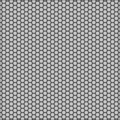 Graphic seamless pattern made of black honeycomb pattern over white