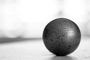A metal ball.