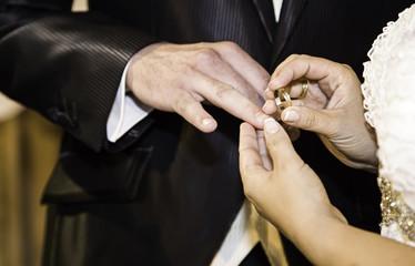 Putting wedding ring