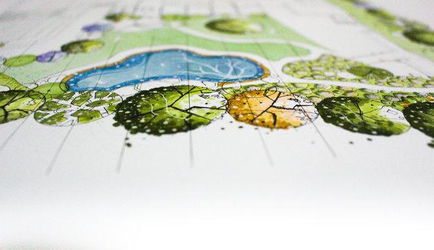 Landscape plan art create