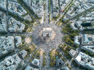 Above Arc De Triomphe in Paris