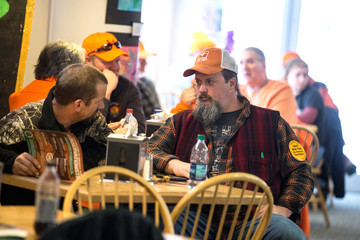 Vermont Federation of Sportsmen's Club members and pro-gun supporters mingle at the annual Sportsmen's Legislative Mixer in Montpelier