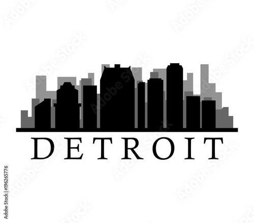 detroit skyline stock image and royalty free vector files on rh eu fotolia com detroit skyline outline vector