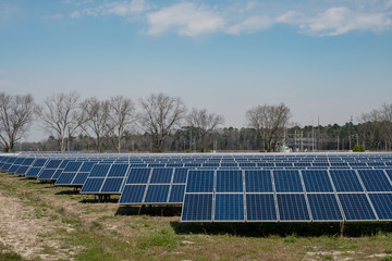 solar panel farm in the country