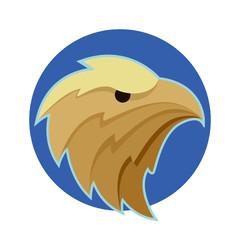 Vector Bald Eagle or Hawk Head