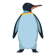Cute penguin icon over white background, colorful design. vector illustration