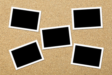 Blank photos on Corkboard