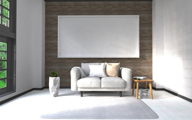 3d rendering interior background mock up
