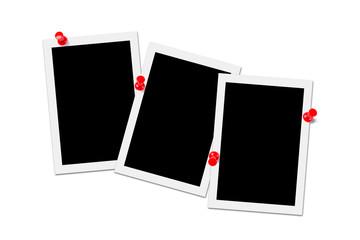 Blank photos isolated on white background