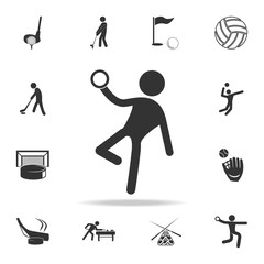 Gymnast with a ball icon. Detailed set of athletes and accessories icons. Premium quality graphic design. One of the collection icons for websites, web design, mobile app