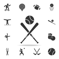 baseball bat and ball icon. Detailed set of athletes and accessories icons. Premium quality graphic design. One of the collection icons for websites, web design, mobile app