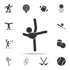 Gymnastics Rhythmic sport icon. Detailed set of athletes and accessories icons. Premium quality graphic design. One of the collection icons for websites, web design, mobile app