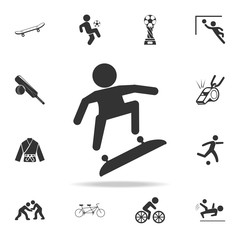 skateboarding Icon. Detailed set of athletes and accessories icons. Premium quality graphic design. One of the collection icons for websites, web design, mobile app