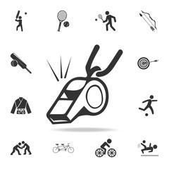 whistle icon. Detailed set of athletes and accessories icons. Premium quality graphic design. One of the collection icons for websites, web design, mobile app