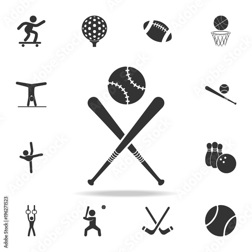 Baseball Bat And Ball Icon Detailed Set Of Athletes Accessories Icons Premium Quality Graphic Design One The Collection For Websites