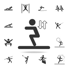 long jump icon. Detailed set of athletes and accessories icons. Premium quality graphic design. One of the collection icons for websites, web design, mobile app
