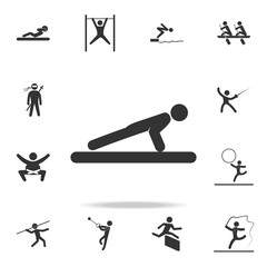 Push ups icon. Detailed set of athletes and accessories icons. Premium quality graphic design. One of the collection icons for websites, web design, mobile app
