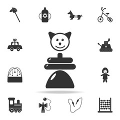 whirligig toy Icon. Detailed set of baby toys icons. Premium quality graphic design. One of the collection icons for websites, web design, mobile app