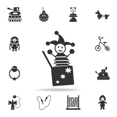 Jack in the box icon. Detailed set of baby toys icons. Premium quality graphic design. One of the collection icons for websites, web design, mobile app