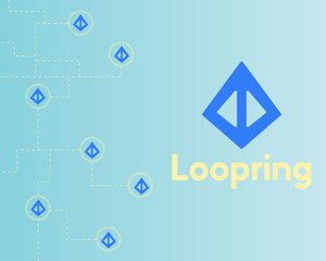 Loopring cryptocurrency technology style background