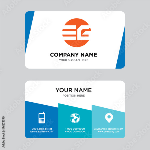 eg ge business card design template visiting for your company