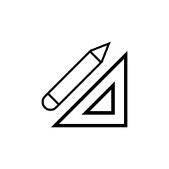 Ruler and pencil vector icon